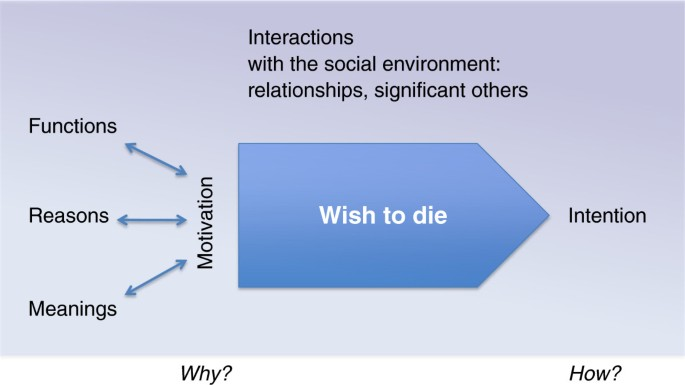 What a wish to die can mean: reasons, meanings and functions