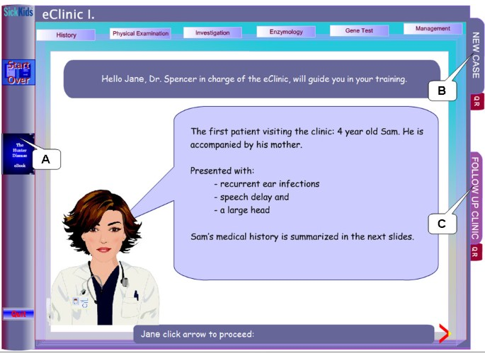 Hunter disease eClinic: interactive, computer-assisted, problem