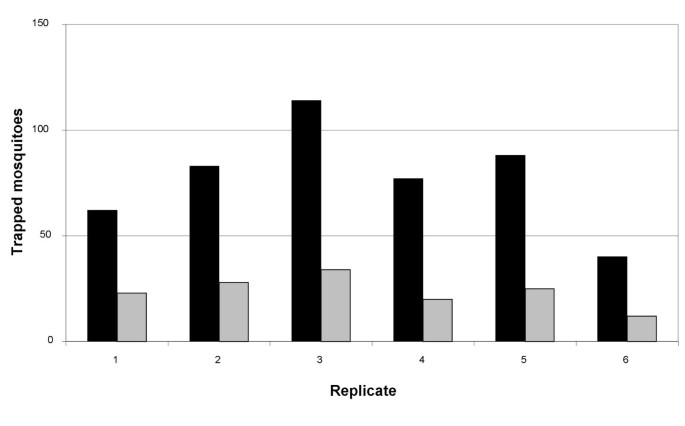 Evaluation of two counterflow traps for testing behaviour