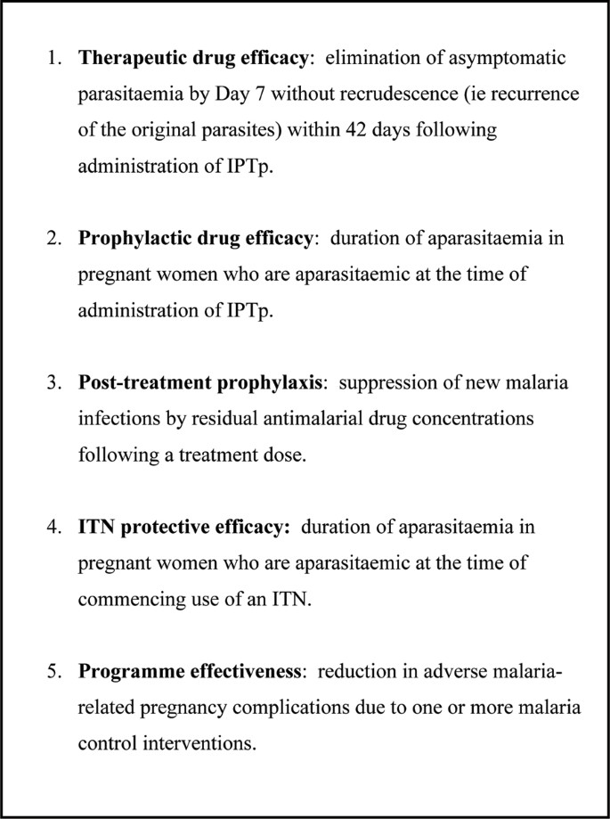Monitoring and evaluation of malaria in pregnancy