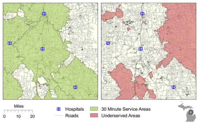 Measuring geographic access to health care: raster and