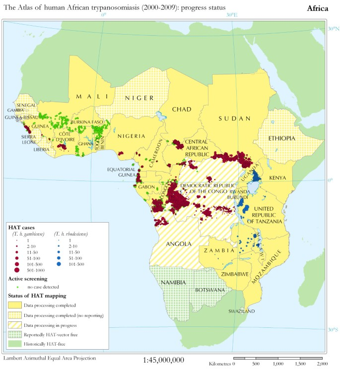 The Atlas of human African trypanosomiasis: a contribution