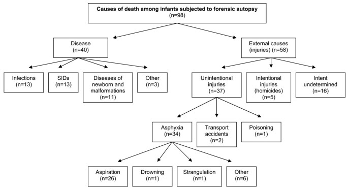 Deaths Of Infants Subject To Forensic Autopsy In Estonia From 2001 To 2005 What Can We Learn From Additional Information Population Health Metrics Full Text