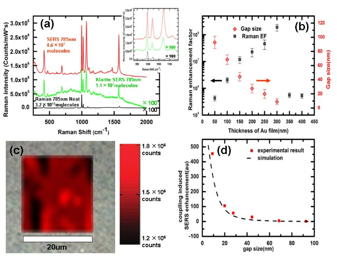Large-area high-performance SERS substrates with deep controllable