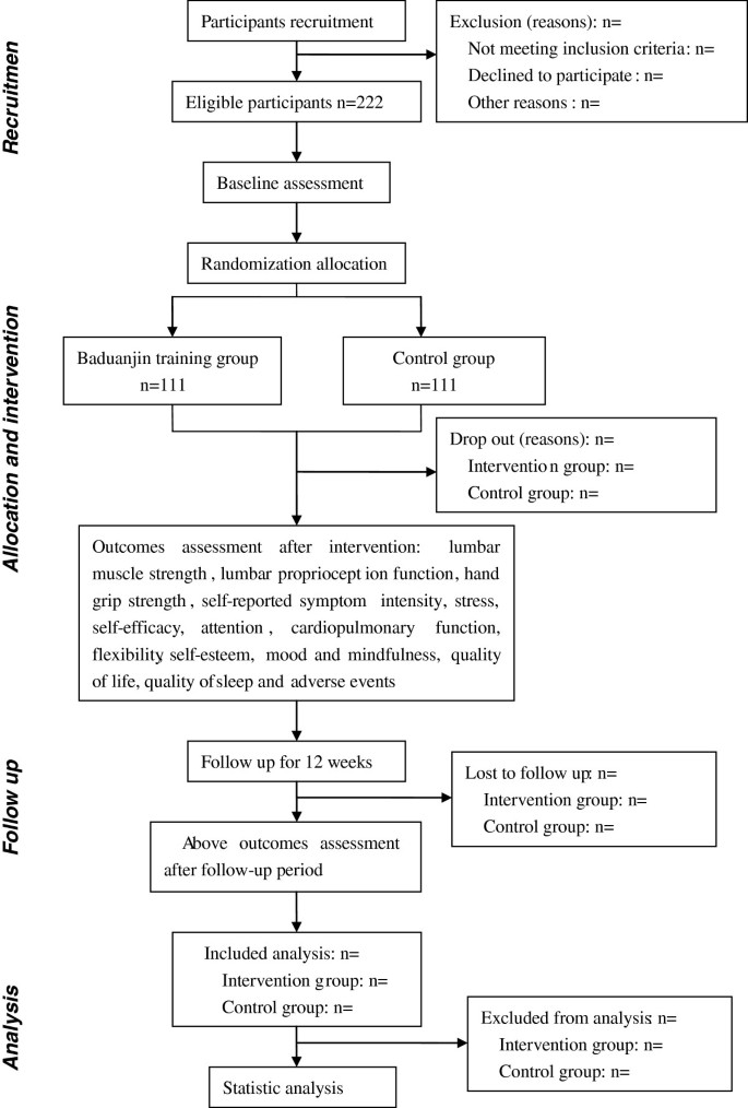 The effect of Baduanjin exercise for physical and