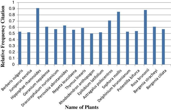 Quantitative ethnomedicinal study of plants used in the
