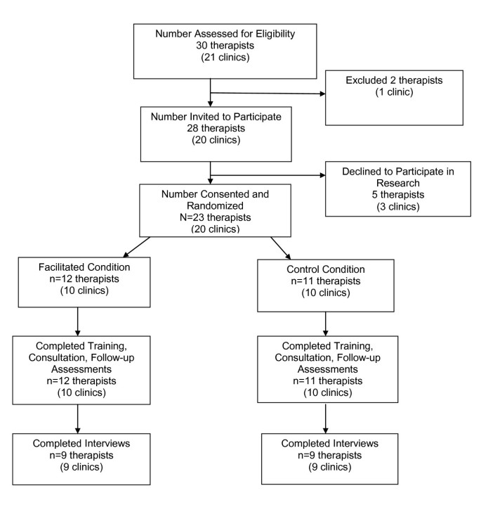 Employing external facilitation to implement cognitive behavioral