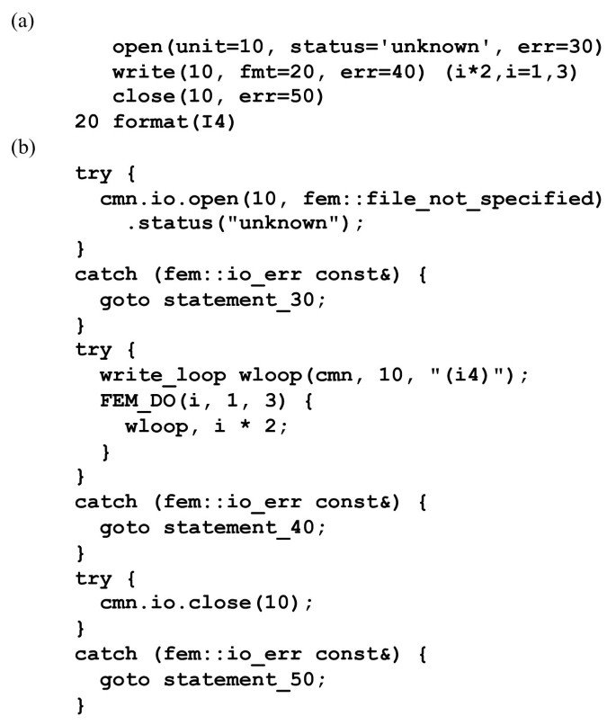 Automatic Fortran to C++ conversion with FABLE   Source Code
