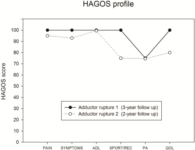 Clinical recovery of two hip adductor longus ruptures: a case-report