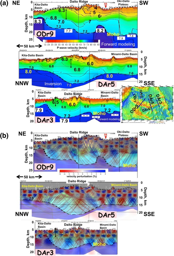 Wide-angle refraction experiments in the Daito Ridges region