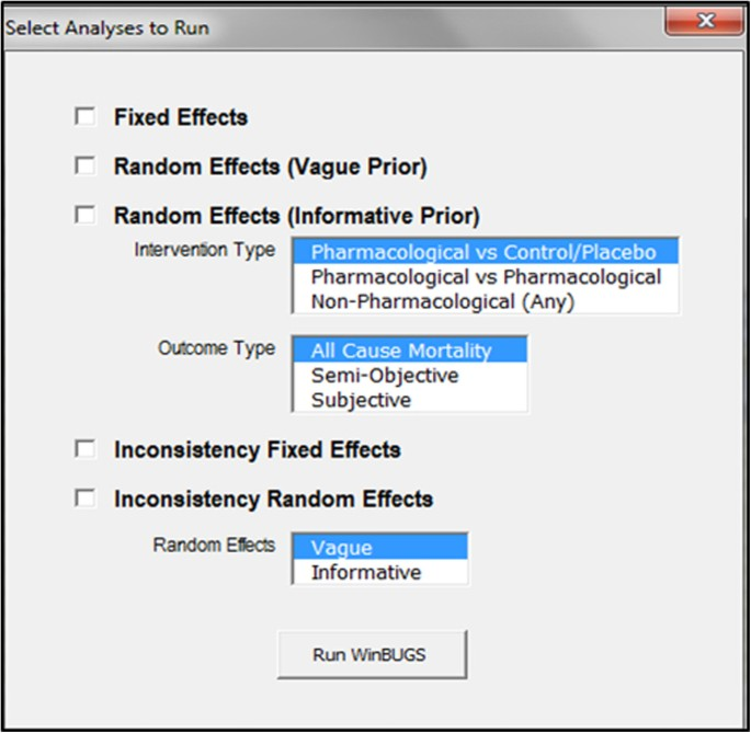 A Microsoft-Excel-based tool for running and critically appraising