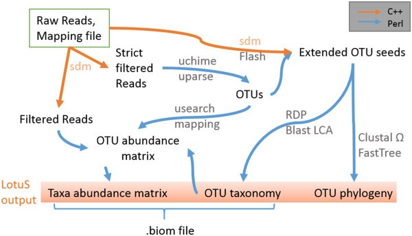 LotuS: an efficient and user-friendly OTU processing
