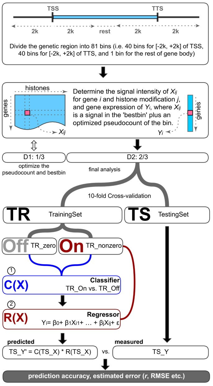 Modeling gene expression using chromatin features in various