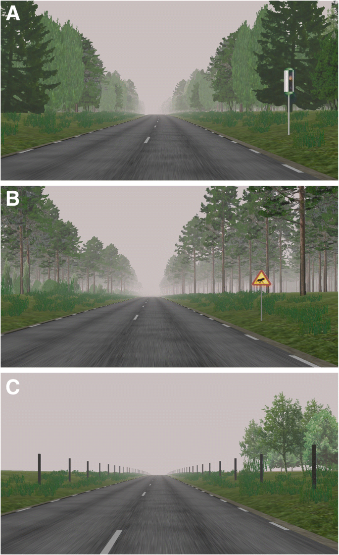 Speed reduction effects over distance of animal-vehicle collision