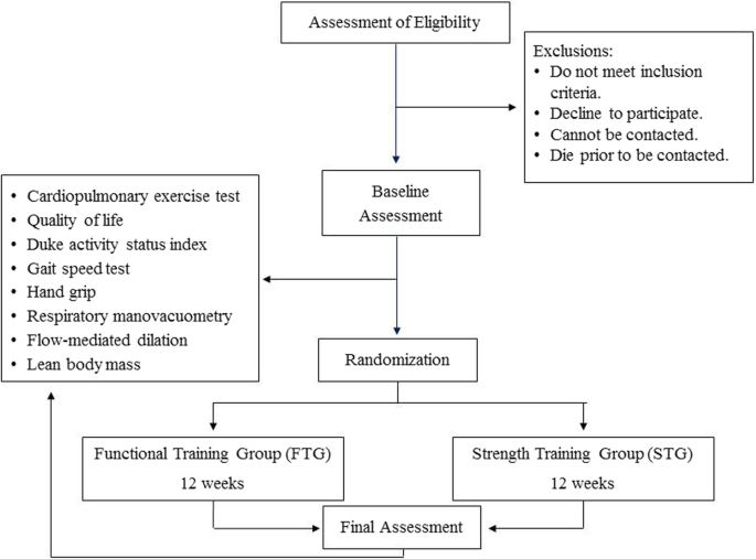 Cardiopulmonary Exercise Capacity And Quality Of Life Of Patients With Heart Failure Undergoing A Functional Training Program Study Protocol For A Randomized Clinical Trial Bmc Cardiovascular Disorders Full Text