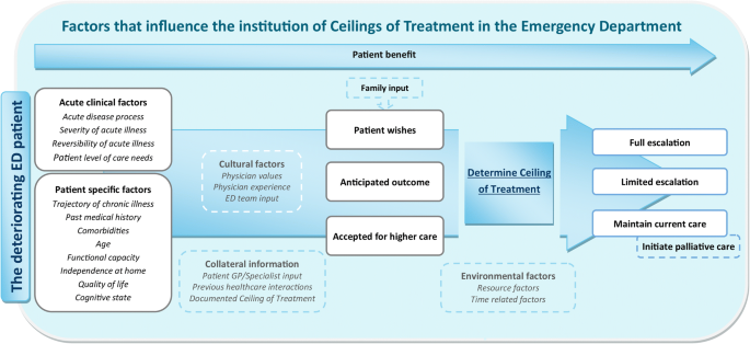Ceilings of treatment: a qualitative study in the emergency
