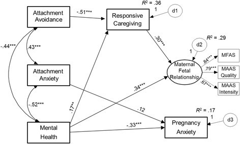 Investigating attachment, caregiving, and mental health: a