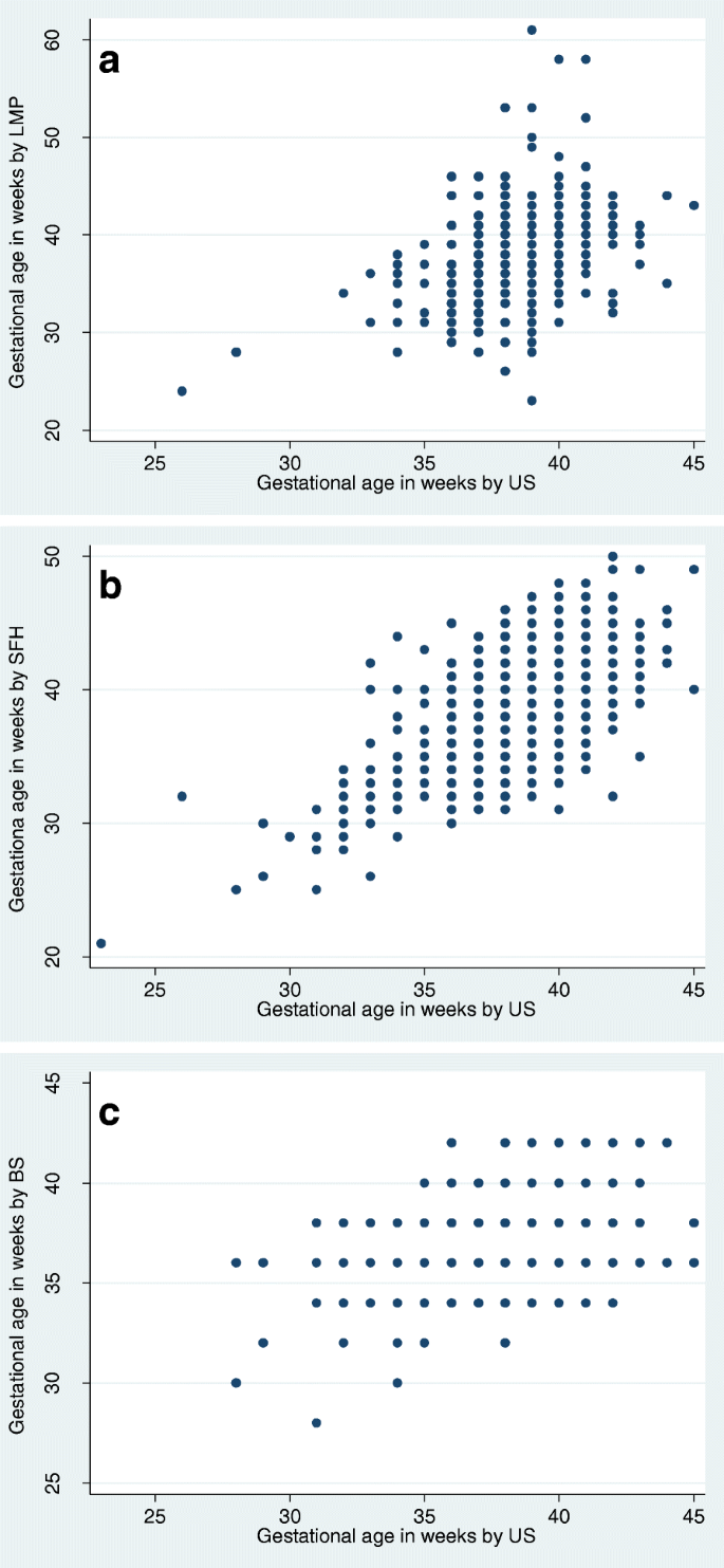 The assessment of gestational age: a comparison of different