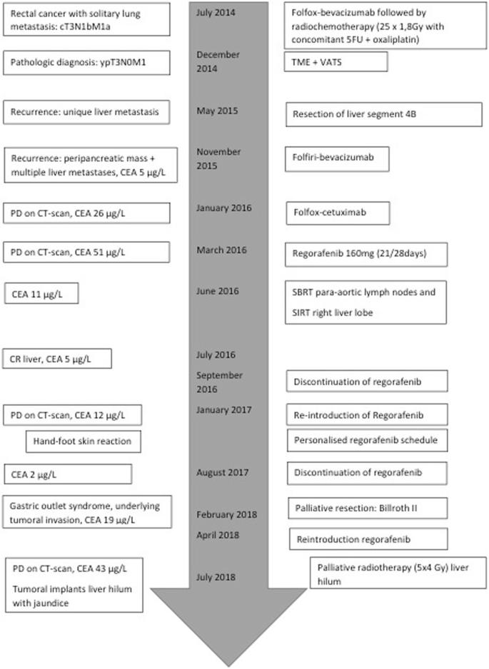 Long Term Response On Regorafenib In Non V600e Braf Mutated Colon Cancer A Case Report Bmc Cancer Full Text