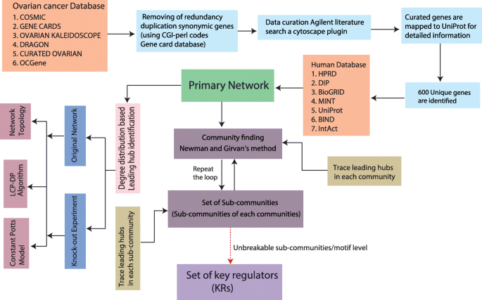 Methodology Of Predicting Novel Key Regulators In Ovarian Cancer Network A Network Theoretical Approach Bmc Cancer Full Text