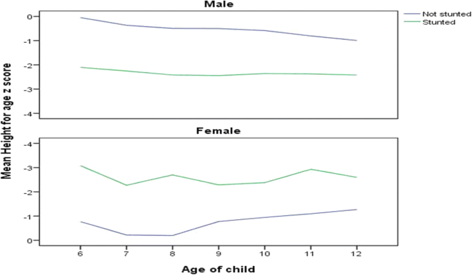 Prevalence and associated factors for stunting among 6–12