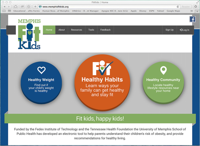 Memphis FitKids: implementing a mobile-friendly web-based