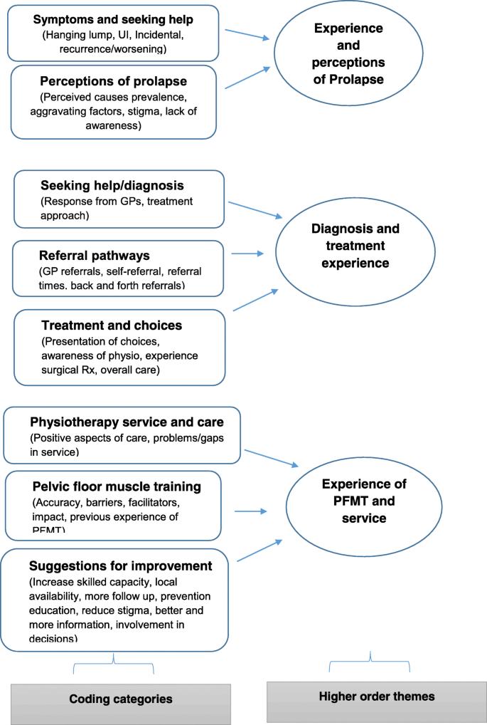 Women's experiences of receiving care for pelvic organ