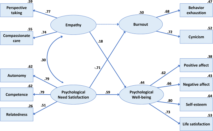 The role of empathy and psychological need satisfaction in