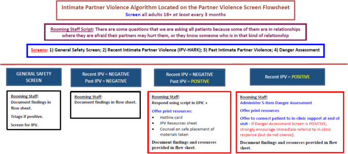 Linking partner violence survivors to supportive services