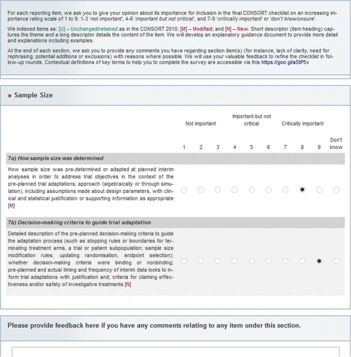 Development process of a consensus-driven CONSORT extension