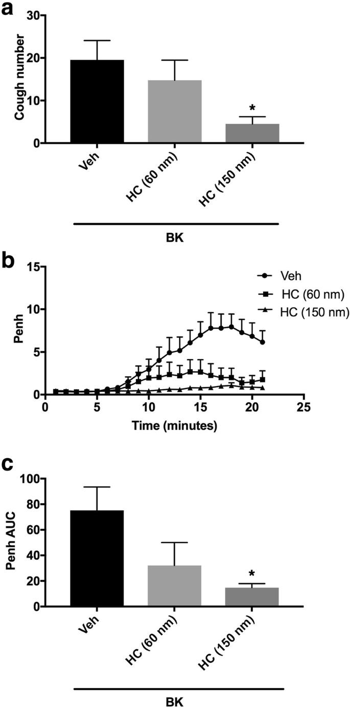 Bradykinin sensitizes the cough reflex via a B 2 receptor dependent