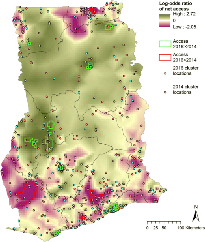 Determinants of bed net use conditional on access in population