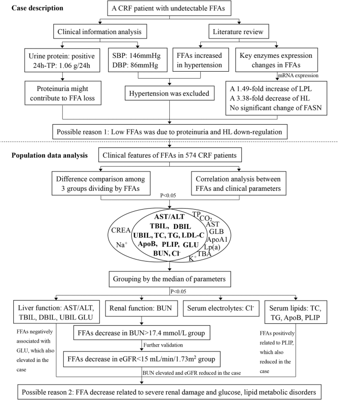Evaluation of serum free fatty acids in chronic renal