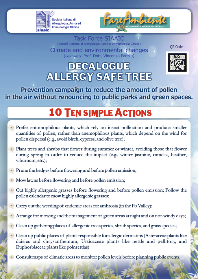 "Urban air pollution and climate change: ""The Decalogue"