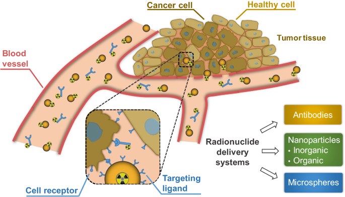 Current outlook on radionuclide delivery systems: from