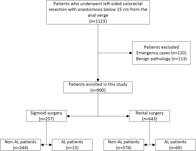 Risk Factors For Anastomotic Leakage And Its Impact On Long Term Survival In Left Sided Colorectal Cancer Surgery Springerlink
