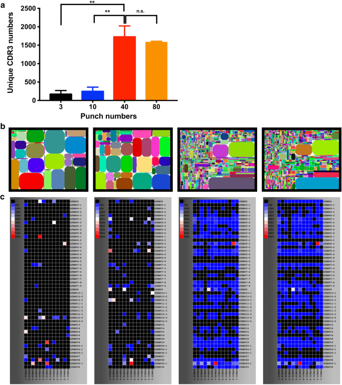 High throughput sequencing of T-cell receptor repertoire