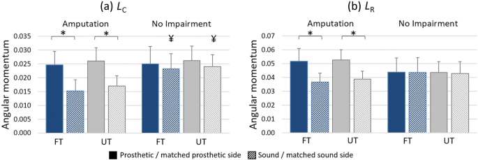 Uneven terrain exacerbates the deficits of a passive prosthesis in