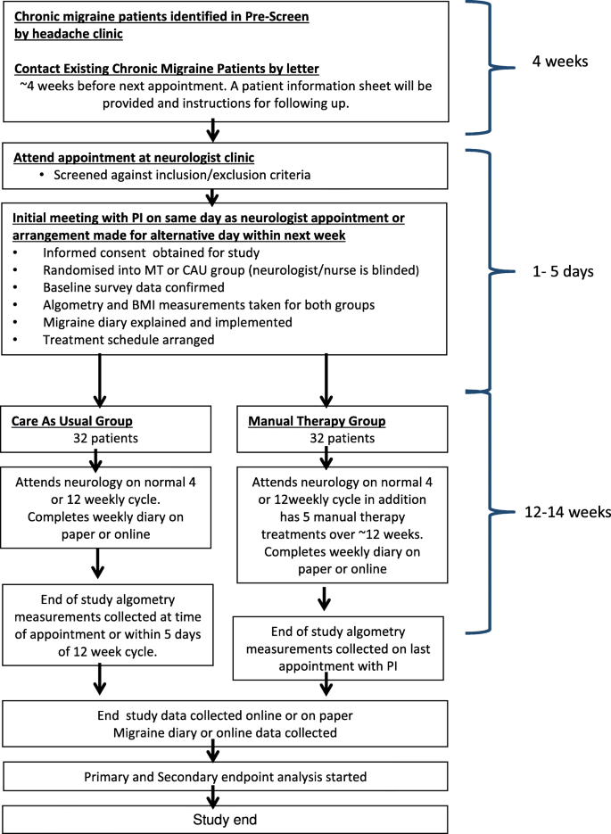 Manual therapy for chronic migraine: a pragmatic randomised