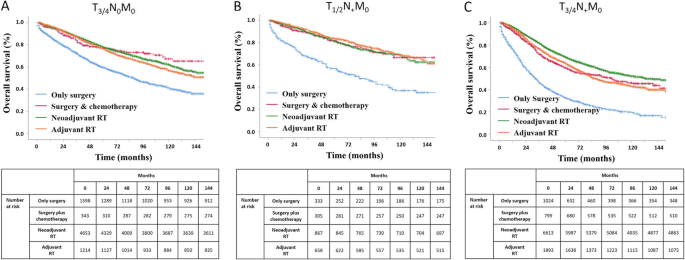 Neoadjuvant Radiotherapy Improves Overall Survival For T3 4n M0 Rectal Cancer Patients A Population Based Study Of 20300 Patients Radiation Oncology Full Text