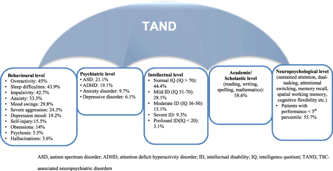 TSC-associated neuropsychiatric disorders (TAND): findings