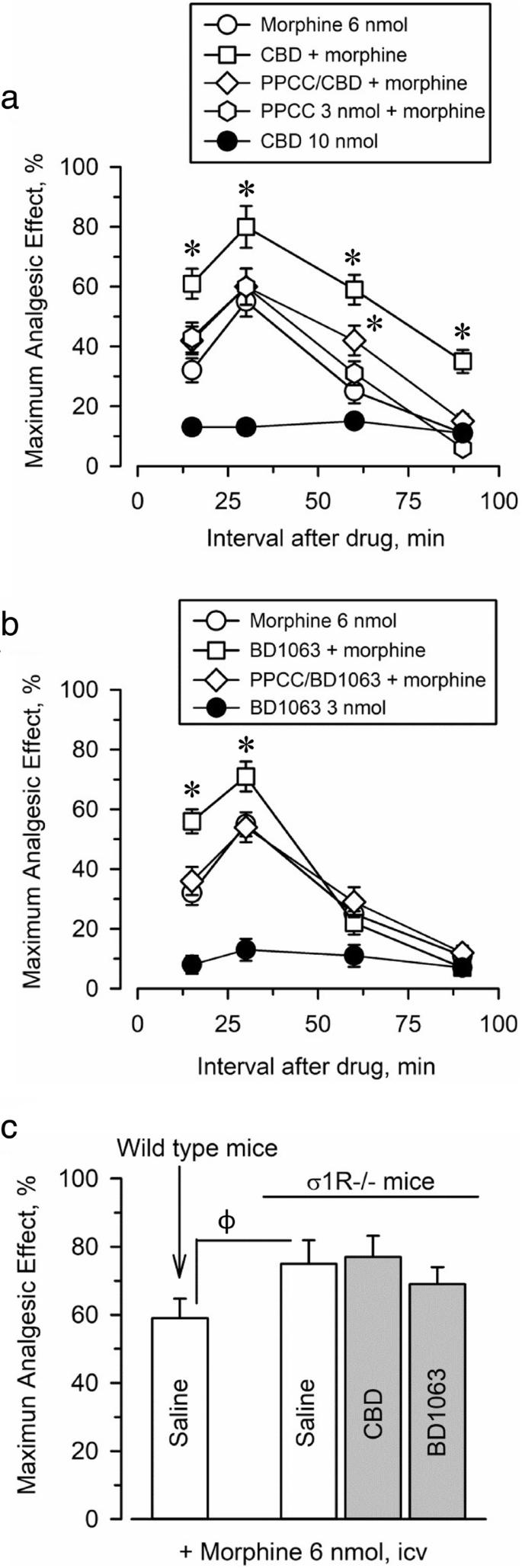 Cannabidiol enhances morphine antinociception, diminishes