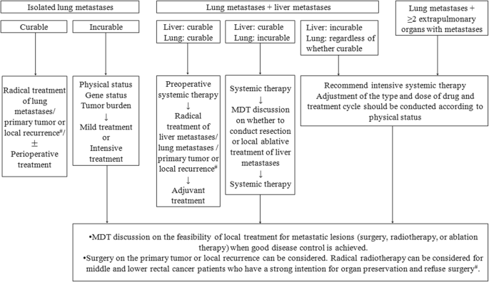 Expert Consensus On Multidisciplinary Therapy Of Colorectal Cancer With Lung Metastases 2019 Edition Journal Of Hematology Oncology Full Text