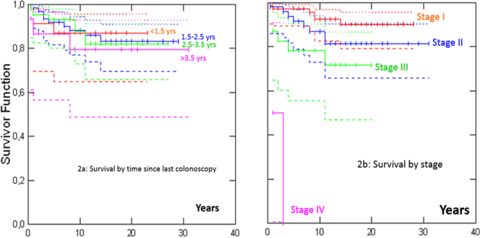 Survival By Colon Cancer Stage And Screening Interval In Lynch Syndrome A Prospective Lynch Syndrome Database Report Hereditary Cancer In Clinical Practice Full Text