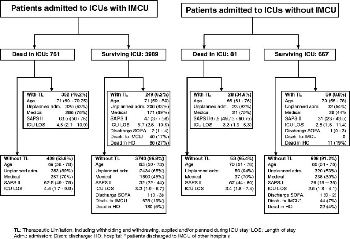 Hospital mortality of adults admitted to Intensive Care Units in