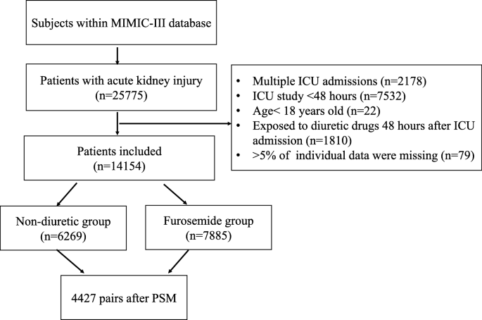 Association Between Furosemide Administration And Outcomes In Critically Ill Patients With Acute Kidney Injury Critical Care Full Text