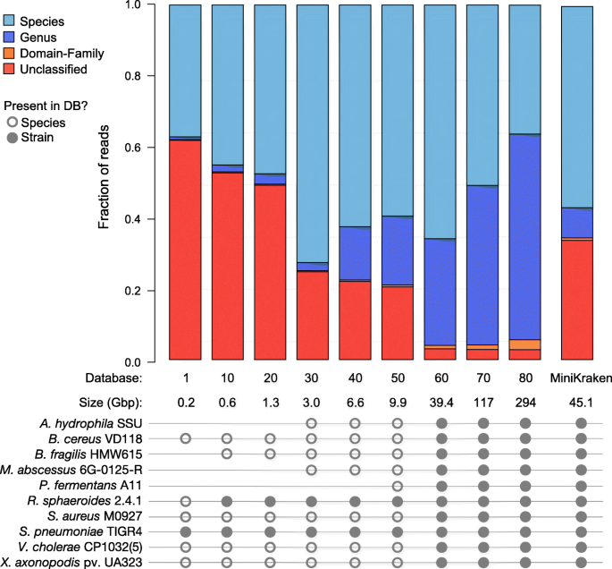 RefSeq database growth influences the accuracy of k -mer