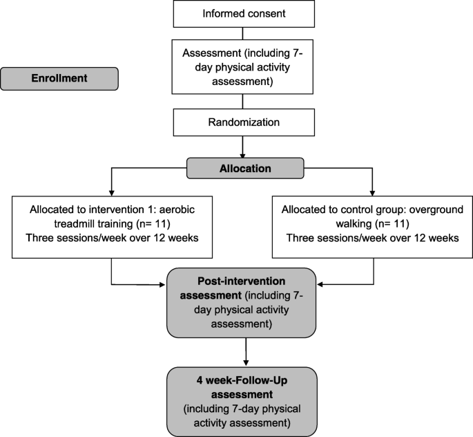 Effects of aerobic training on physical activity in people