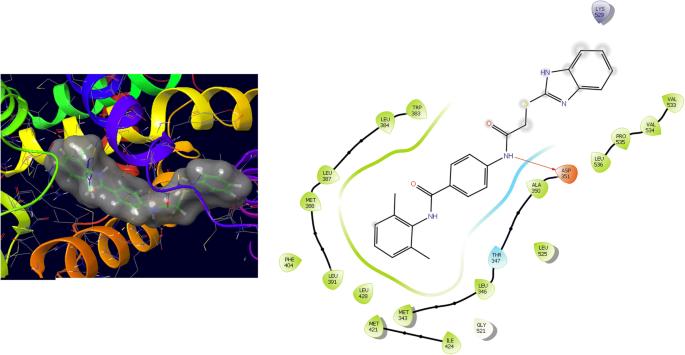 In-silico molecular design of heterocyclic benzimidazole scaffolds