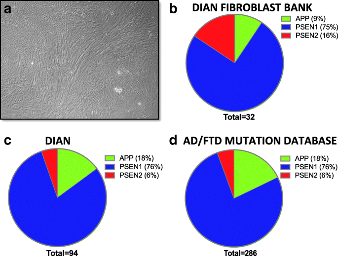 Human fibroblast and stem cell resource from the Dominantly